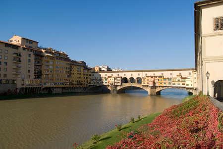 river arno: Florence. Ponte Vecchio and River Arno
