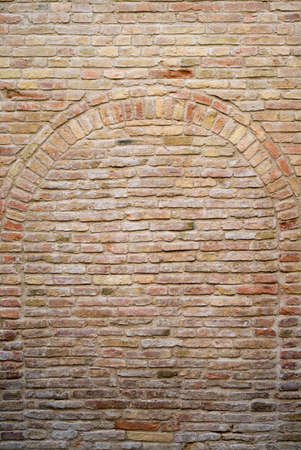 exterior wall: Old bricked wall