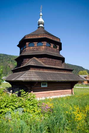 orthodox church: Old wooden orthodox church, Ukraine