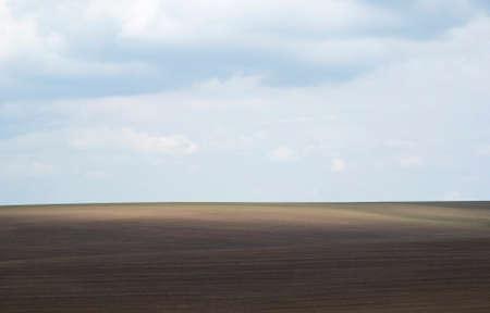 plowed field: Ukraine, Podolia region. Plowed field on the hill