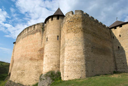 right bank: Khotyn, Ukraine - May 22, 2016: The Khotyn Fortress located on the right bank of the Dniester River in Khotyn town, of western Ukraine
