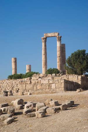 grecian: Temple of Hercules in Amman Citadel, Jordan