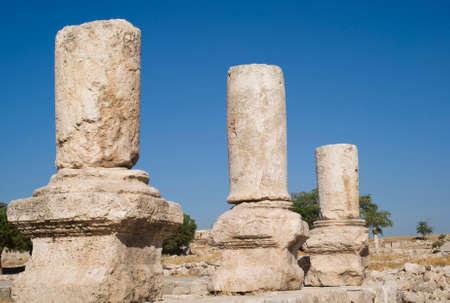 Columns. Temple of Hercules, Jordan
