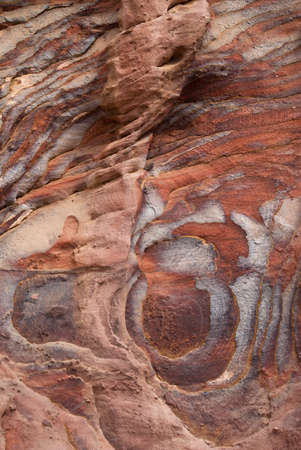 sedimentary: Colorful layers of sandstone