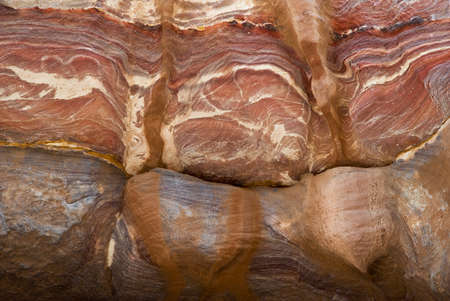 Colorful layers of sandstone