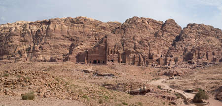 nabatean: View of the Royal Tombs in Petra