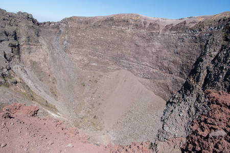 Crater of Mount Vesuvius - view from the top of the volcano