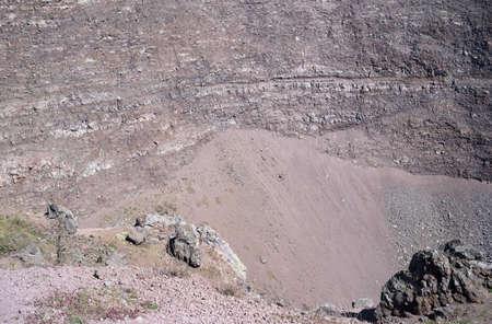 Volcanic rock inside the crater of Vesuvius