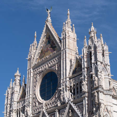 Renaissance facade of the Siena Cathedral Stock Photo