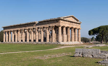 Temple of Neptune at Paestum archaeological site, Italy