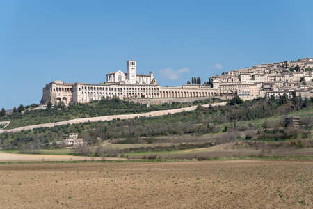 of assisi: Panorama of Assisi, Italy, Umbria region