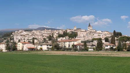 Panorama of Spello. Italy, Umbria region