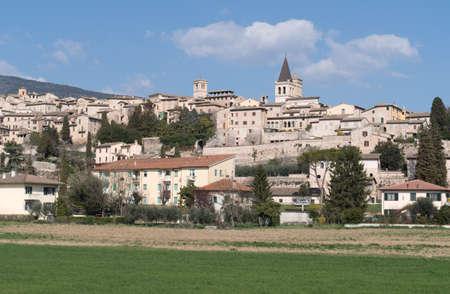 spello: Panorama of Spello. Italy, Umbria region