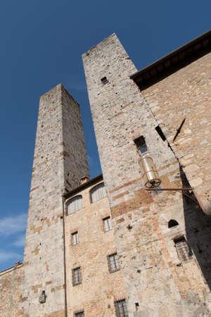 Italy, Towers of San Gimignano, UNESCO World Heritage Site, Tuscany, Italy Stock Photo