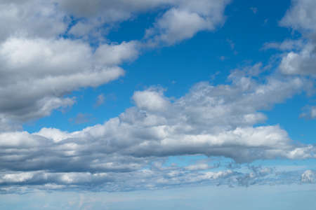White heap clouds in the blue sky Stock Photo