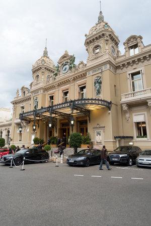 Monaco, Monte-Carlo - September 15, 2017: Front view of the famous Grand Casino in Monte Carlo Editorial