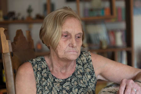 Woman of elder age at home