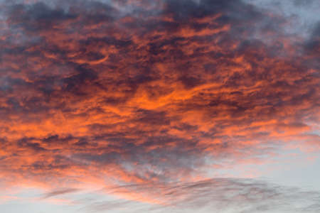 Scenic view of cloudy sky during sunset Stock Photo