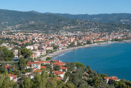 The Gulf of Diano, province of Imperia. Famous tourist destination in Liguria region of Italy
