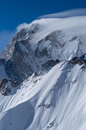 Mountain scenery in Graian Alps, Mont Blanc range, Aosta Valley, Italy