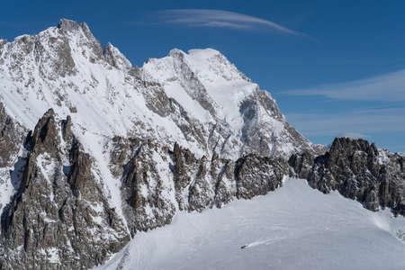 View of the Graian Alps, Aosta Valley, Italy Stock Photo
