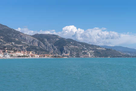 Menton, French Riviera, view of littoral