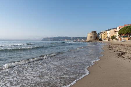 Alassio. Famous tourist destination in Liguria region of Italy Stock Photo