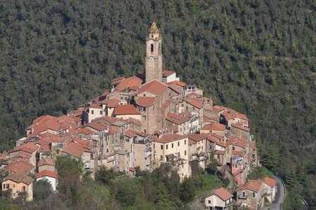 Castelvittorio. The ancient village in Liguria region of Italy