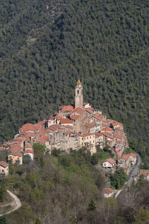 Castelvittorio. The ancient village in Liguria region of Italy
