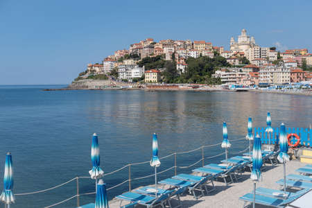 Italian Riviera. Seafront at the tourist resort town Imperia Archivio Fotografico