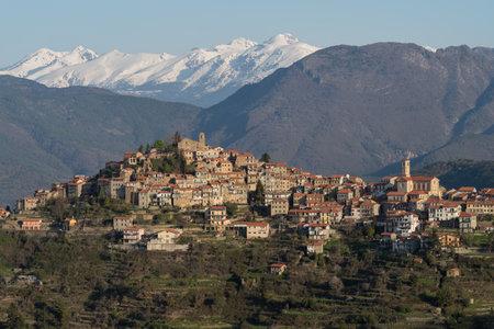 Baiardo. The ancient village in Liguria region of Italy Editorial
