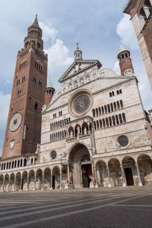 The Cathedral of Cremona, Italy 免版税图像