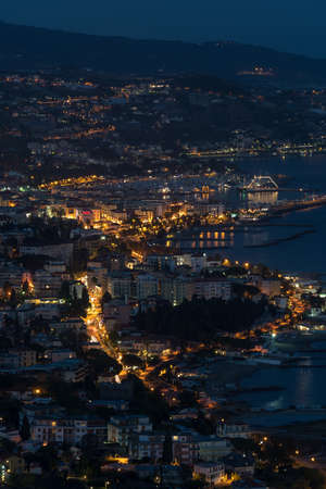 Sanremo by night. Liguria region of Italy Editorial