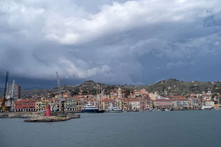 Ancient harbour of Imperia Oneglia, Italy