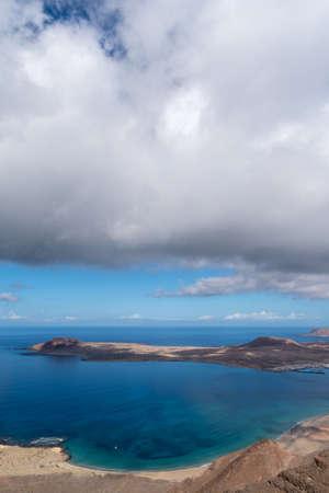 Canary Islands, Spain. Panoramic view from Mirador del Rio, Lanzarote island