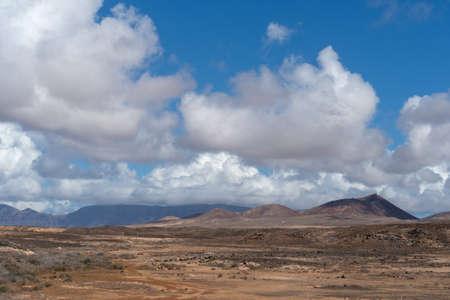 Arid landscape, Famara massif, Lanzarote, Canary, Spain