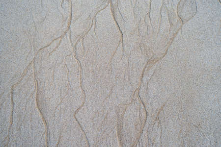 Beautiful natural texture design left by the tide on the beach Banco de Imagens