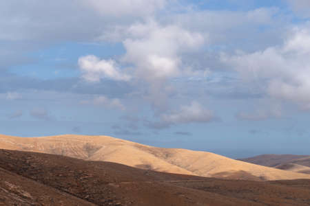 Fuerteventura mountains landscape. View from the scenic viewpoint Morro Velosa, Canary Islands, Spain