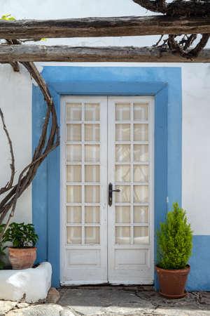 Wooden entrance door, Lanzarote, Canary Islands, Spain Фото со стока