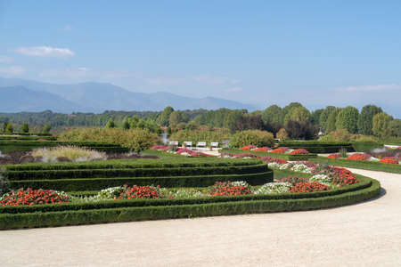 The Flower Garden at Venaria Reale. Turin. Italy 版權商用圖片