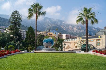 Gardens outside Casino Monte Carlo, Principality of Monaco Editorial