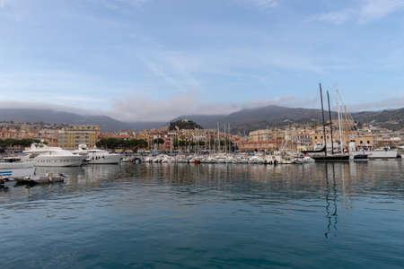 Sanremo from the sea, Italian Riviera