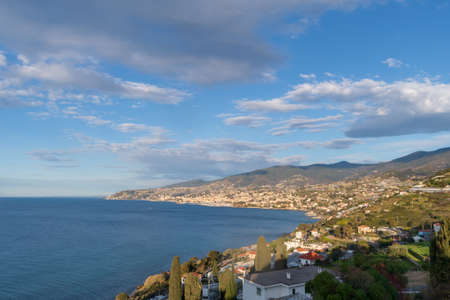 Italy, Sanremo, high angle view