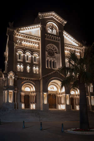 Facade of the Monaco Cathedral of Our Lady Immaculate