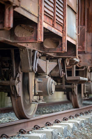 Rusty old train details