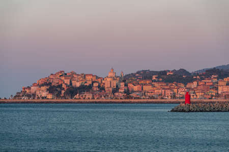 Imperia. Italian Riviera in the sunrise light
