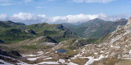 Ligurian Alps mountain range, Colle del Pas, Valle Pesio and Tanaro natural park, Piedmont region, Province of Cuneo, northwestern Italy 写真素材