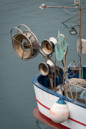 Fishing boat equipment detail