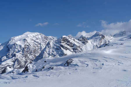 The Ortler Alps mountain range of the Southern Rhaetian Alps mountain group, Italy 版權商用圖片
