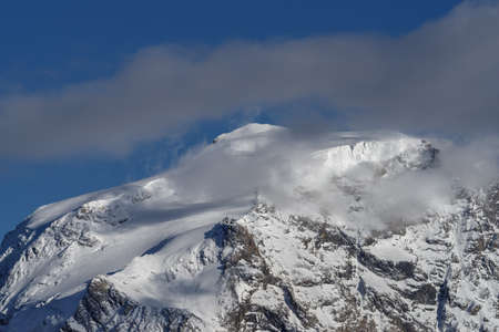Ortler mountain (3905m) from the Stelvio Pass, Northern Italy